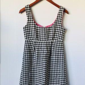 Vineyard Vines Houndstooth wool blend dress